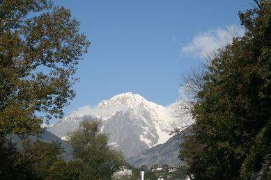 Über Allem tront der Mont Blanc